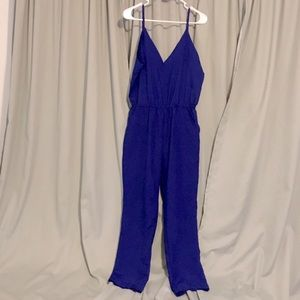 Blue Jumpsuit / Romper Casual and Comfy w/Pockets